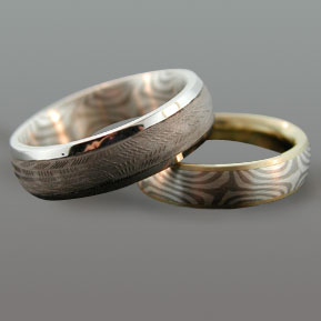 "Custom ""Inside Out"" Wedding Bands"