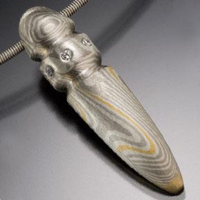 Re-laminated Mokume Finial Pendant